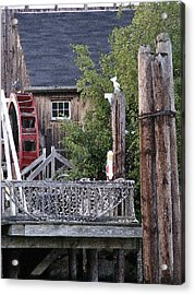 Waterwheel Office Building Acrylic Print by Margie Avellino