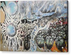 Waterwork Acrylic Print by Steven Holder