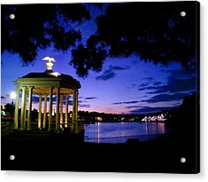 Waterworks At Night Acrylic Print