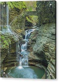 Acrylic Print featuring the photograph Watkins Glen 08 Panorama by Jim Dollar