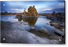 Watson Lake Arizona 14 Acrylic Print by Bob Christopher