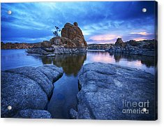 Watson Lake Arizona 4 Acrylic Print by Bob Christopher