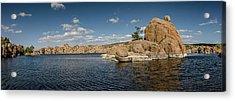 Watson Lake Panorama Acrylic Print