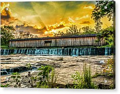 Acrylic Print featuring the photograph Watson Mill Covered Bridge by Michael Sussman