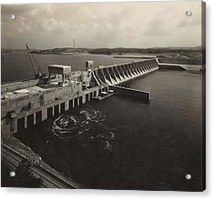 Watts Bar Dam On The Tennessee River Acrylic Print by Everett