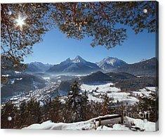 Watzmann Panorama 1 Acrylic Print by Rudi Prott