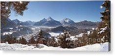 Watzmann Panorama 2 Acrylic Print by Rudi Prott