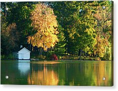 Waupaca Chain Boathouse Acrylic Print