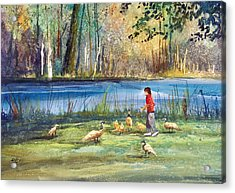 Wautoma Mill Pond Acrylic Print by Ryan Radke