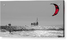 Wave And Wind Energy Are More Fun Acrylic Print by Scott Campbell