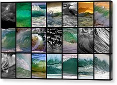 Wave Chart Acrylic Print by Brad Scott