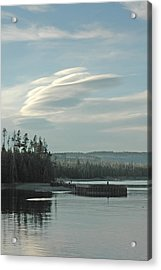 Wave Clouds Over Yellowstone Lake Acrylic Print by Deni Dismachek