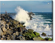 Wave Crash At The Wedge Acrylic Print