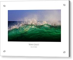 Acrylic Print featuring the digital art Wave Crest by Julian Perry