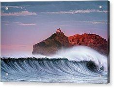 Wave In Bakio Acrylic Print
