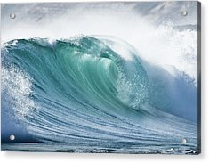 Wave In Pristine Ocean Acrylic Print by John White Photos