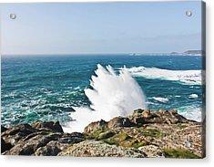 Wave Like Quartz Acrylic Print by Terri Waters