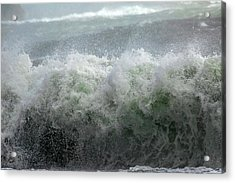 Wave On A Mission Acrylic Print by Betsy Knapp