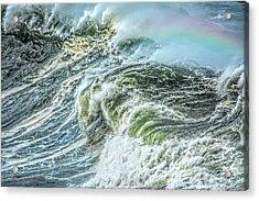 Wave Rainbow Acrylic Print