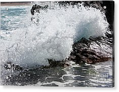 Wave Smash Acrylic Print by Nicholas Burningham