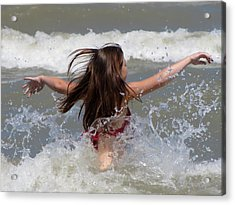 Wave Splash Acrylic Print by Maciek Froncisz