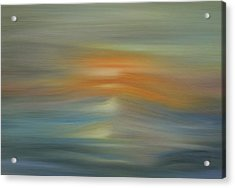 Wave Swept Sunset Acrylic Print by Dan Sproul