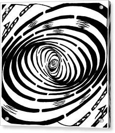 Wave Swirl Maze Acrylic Print by Yonatan Frimer Maze Artist