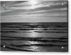 Acrylic Print featuring the photograph Wave Upon Wave I Bw by David Gordon