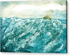 wave V Acrylic Print by Martine Letoile