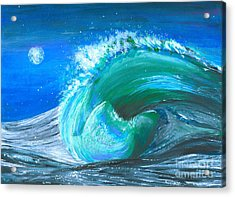 Wave Acrylic Print by Veronica Rickard
