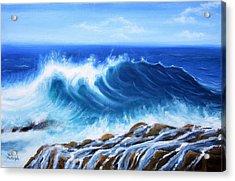 Wave Acrylic Print by Vesna Martinjak