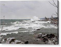 Wave Watching On Superior Acrylic Print by Sandra Updyke