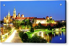 Acrylic Print featuring the photograph Wavel Castle by Fabrizio Troiani
