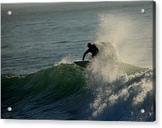 Waverider Acrylic Print by Mike Coverdale