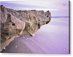 Waves Against Rock Acrylic Print