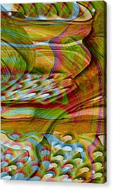 Waves And Patterns Acrylic Print by Linda Sannuti