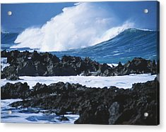 Waves And Rocks Acrylic Print by Kyle Rothenborg - Printscapes