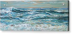 Waves And Wind Acrylic Print