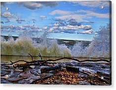 Waves And Wind On A Fall Day Acrylic Print