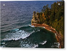 Waves At Miners Castle Acrylic Print