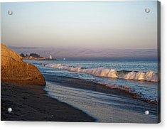 Waves At Santa Cruz Acrylic Print