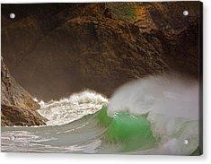 Waves At Waikiki Acrylic Print