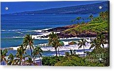 Waves Breaking At Hapuna Beach Acrylic Print