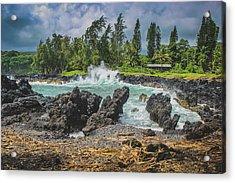 Waves Crashing Kawee Point Acrylic Print