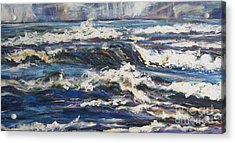 Acrylic Print featuring the painting Waves by Debora Cardaci