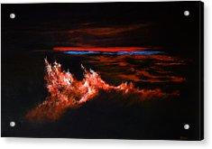 Waves Acrylic Print by DEVARAJ DanielFranco