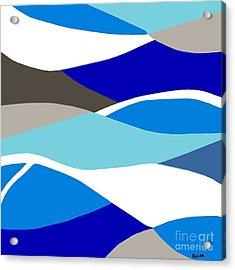 Waves Acrylic Print by Eloise Schneider