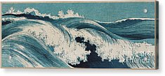Acrylic Print featuring the painting Waves by Konen Uehara