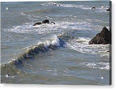 Waves Acrylic Print by Miranda Strapason