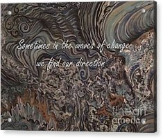 Waves Of Change Acrylic Print